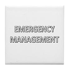 Emergency Management - White Tile Coaster
