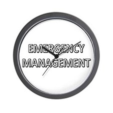 Emergency Management - White Wall Clock