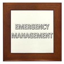 Emergency Management - White Framed Tile