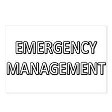 Emergency Management - White Postcards (Package of