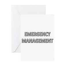 Emergency Management - White Greeting Card