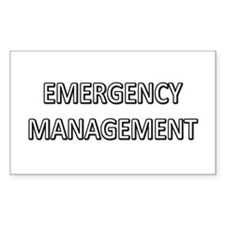 Emergency Management - White Decal