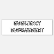 Emergency Management - White Bumper Bumper Sticker