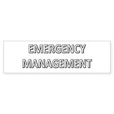 Emergency Management - White Bumper Sticker