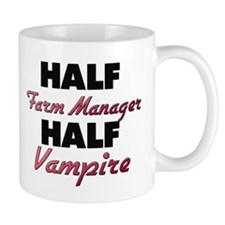 Half Farm Manager Half Vampire Mugs