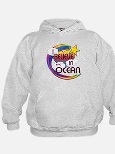 I Believe In The Ocean Cute Believer Design Hoodie