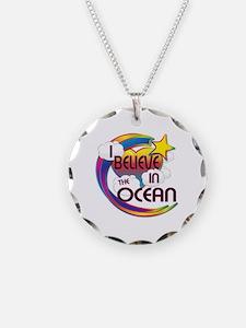 I Believe In The Ocean Cute Believer Design Neckla