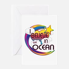 I Believe In The Ocean Cute Believer Design Greeti