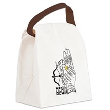Three Finger Salute Canvas Lunch Bag