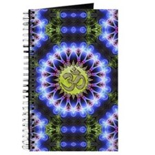 Om Symbol Blue Forest Energy Mandala Journal