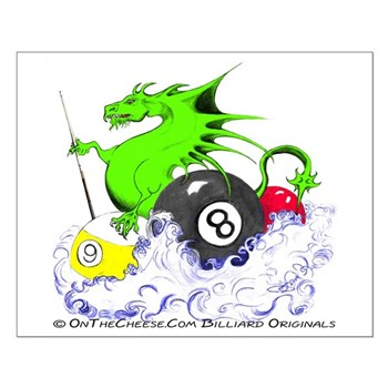Pool Dragon Billiards Small Poster