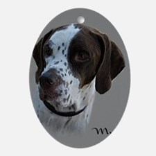 Mud the English Pointer Oval Ornament