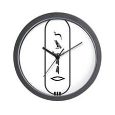 "Javier in Hieroglyphics ""Blac Wall Clock"