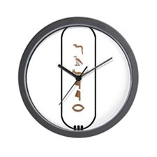 "Javier in Hieroglyphics ""Colo Wall Clock"