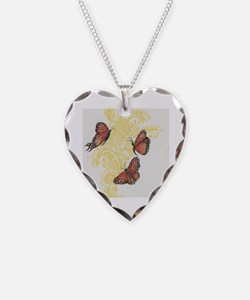 Unique Eb awareness Necklace Heart Charm