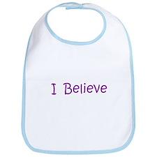 Purple I Believe Bib