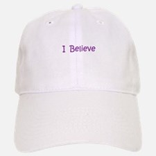 Purple I Believe Baseball Baseball Cap