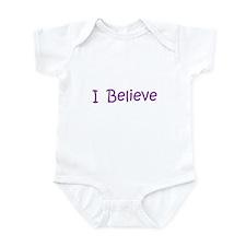 Purple I Believe Infant Bodysuit
