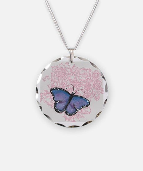 Cute Eb awareness Necklace Circle Charm