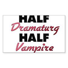 Half Dramaturg Half Vampire Decal