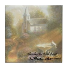 """The Chruch in the Wild Wood"" Fine Art Tile Coaste"