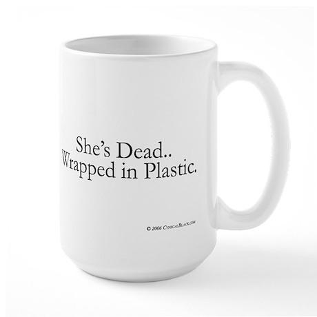 Wrapped in Plastic Large Mug