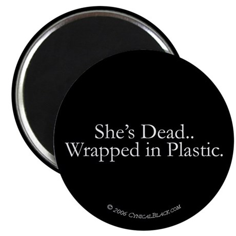 """Wrapped in Plastic 2.25"""" Magnet (100 pack)"""