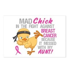 Mad Chick 3L Breast Cancer Postcards (Package of 8