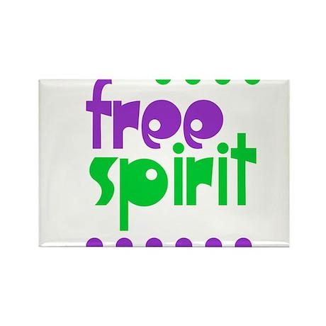 Free Spirit Rectangle Magnet