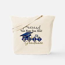 Proud 2017 Graduate Blue Tote Bag