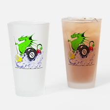 Pool Dragon Billiards Drinking Glass