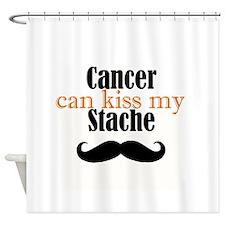 Cancer Kiss my Stache Shower Curtain