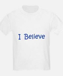 Blue I Believe Kids T-Shirt