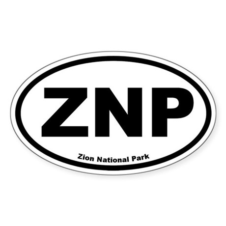 Zion National Park Oval Sticker