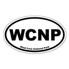 Wind Cave National Park Oval Stickers