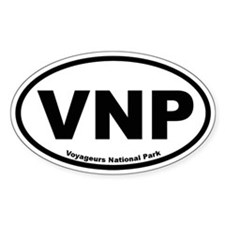 Voyageurs National Park Oval Decal