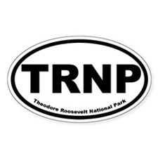 Theodore Roosevelt National Park Oval Stickers