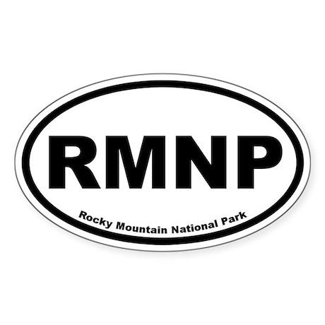 Rocky Mountain National Park Oval Sticker