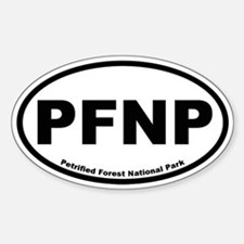 Petrified Forest National Park Oval Decal