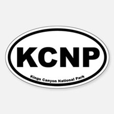 Kings Canyon National Park Oval Decal