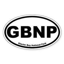 Glacier Bay National Park Oval Decal