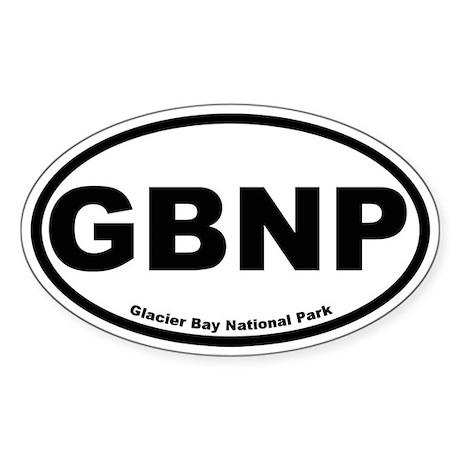 Glacier Bay National Park Oval Sticker