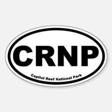 Capitol Reef National Park Oval Bumper Stickers