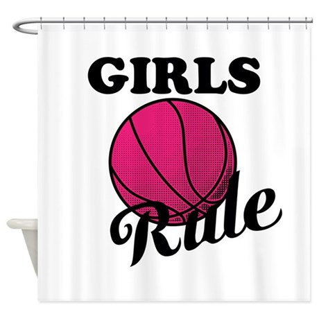 Girls Rule Shower Curtain by DebbiesDesignsCAPMNT