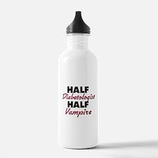 Half Diabetologist Half Vampire Water Bottle