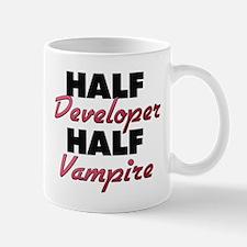 Half Developer Half Vampire Mugs