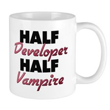 Half Developer Half Vampire Mugs