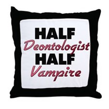 Half Deontologist Half Vampire Throw Pillow