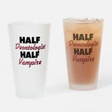 Half Deontologist Half Vampire Drinking Glass