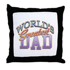 Classic World's Greatest Dad Throw Pillow